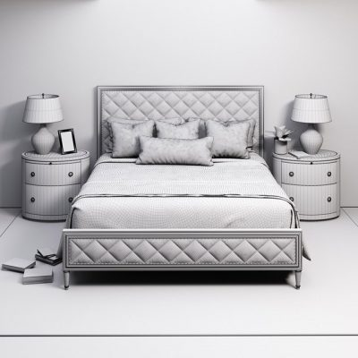 Caracole Diamonds Are Forever Bed 3D Model