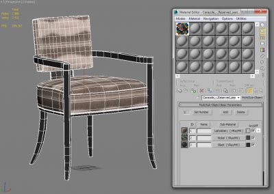 Caracole Reserved Seating Chair 3D Model (2)