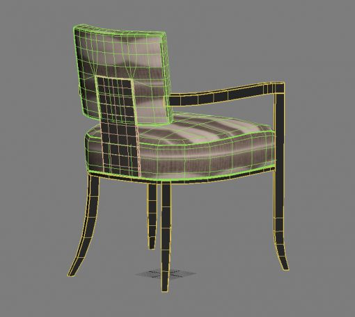 Caracole Reserved Seating Chair 3D Model (3)