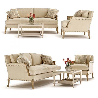 Caracole Sofa Set-01 3D Model