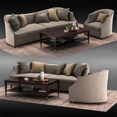 Caracole Sofa Set-05 3D Model