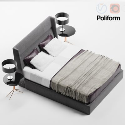 Carlo Colombo – Chloe Letto Bed 3D Model