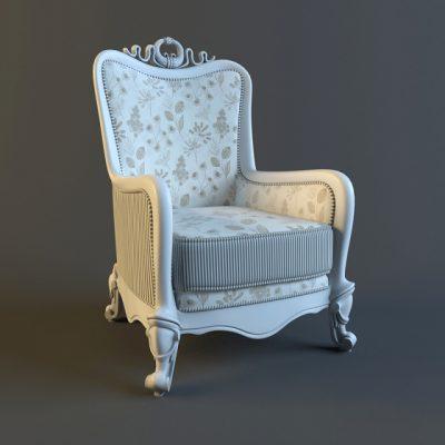 Carpenter Armchair 3D Model