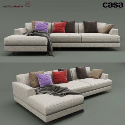 Casa Intl Cordovado Corner Sofa 3D Model
