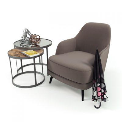 Casamilano Liz Table & Chair 3D Model