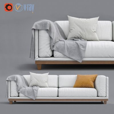 Case Triple Sofa 3D Model