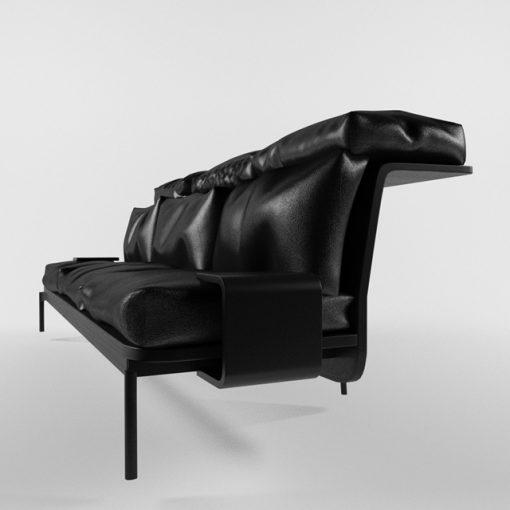 Cassina-288 Sled & Sofa 3D Model 2