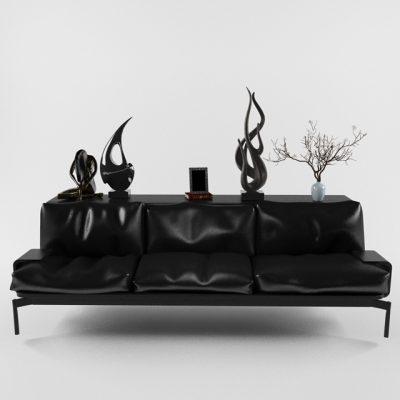 Cassina-288 Sled & Sofa 3D Model