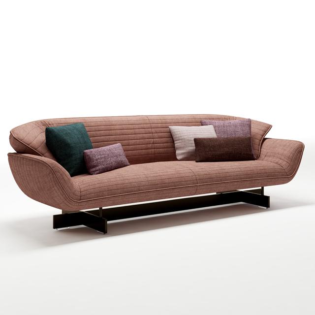 Cassina 550-30 Sofa 3D Model 2