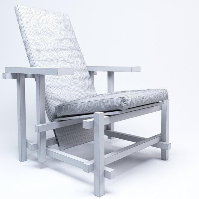Cassina 635 Black Armchair 3D Model 3