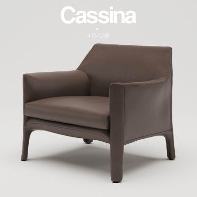 Cassina Cab Armchair 3D Model