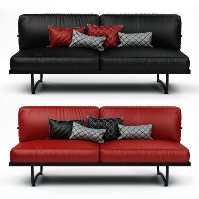 Cassina Ic Sofa Set-05 3D Model