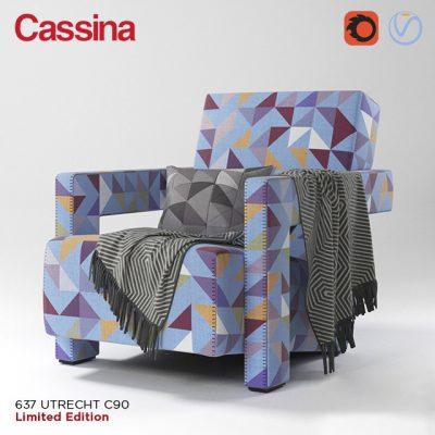 Cassina Utrecht C90 Armchair 3D Model