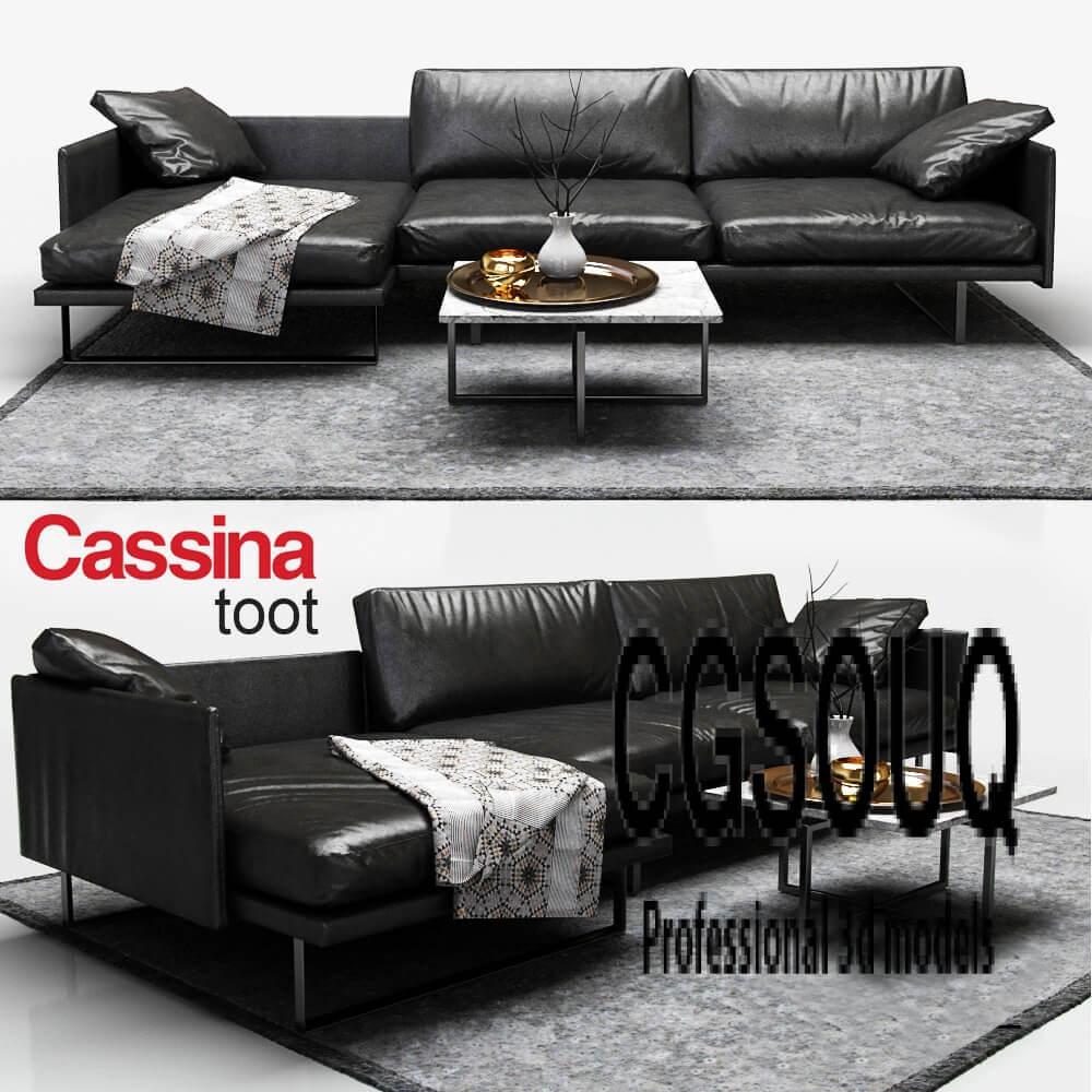 Cassina toot Sofa 3D model
