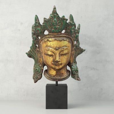 Sculpture Cast Iron Kwan Yin Head 3D Model