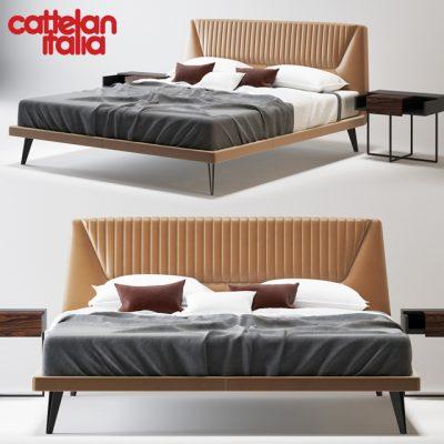 Cattelan Italia Amadeus Bed 3D Model