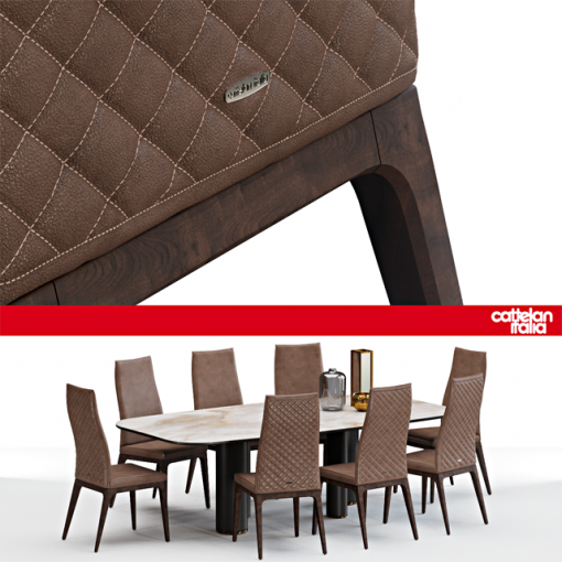 Cattelan Italia Arcadia Couture Table & Chair 3D Model