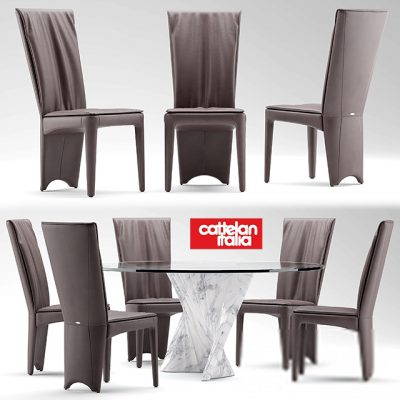 Cattelan Italia Aurelia Table & Chair 3D Model