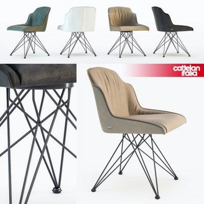 Cattelan Italia Flaminia Chair 3D Model