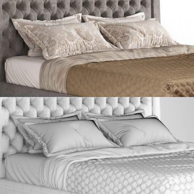 Ceppi Style Luxury Bed 3D Model