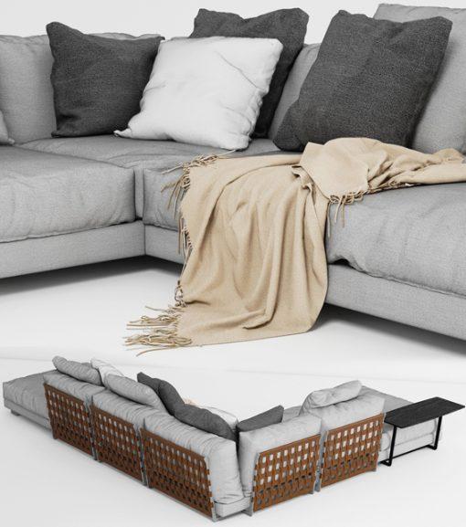 Cestone Sofa 3D Model 2