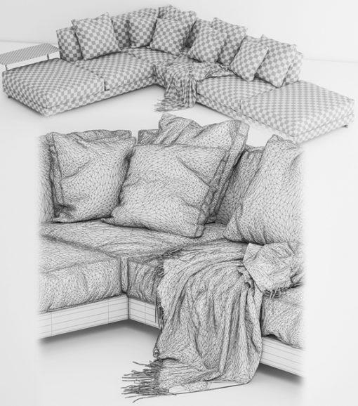Cestone Sofa 3D Model 3