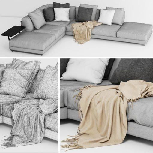 Cestone Sofa 3D Model