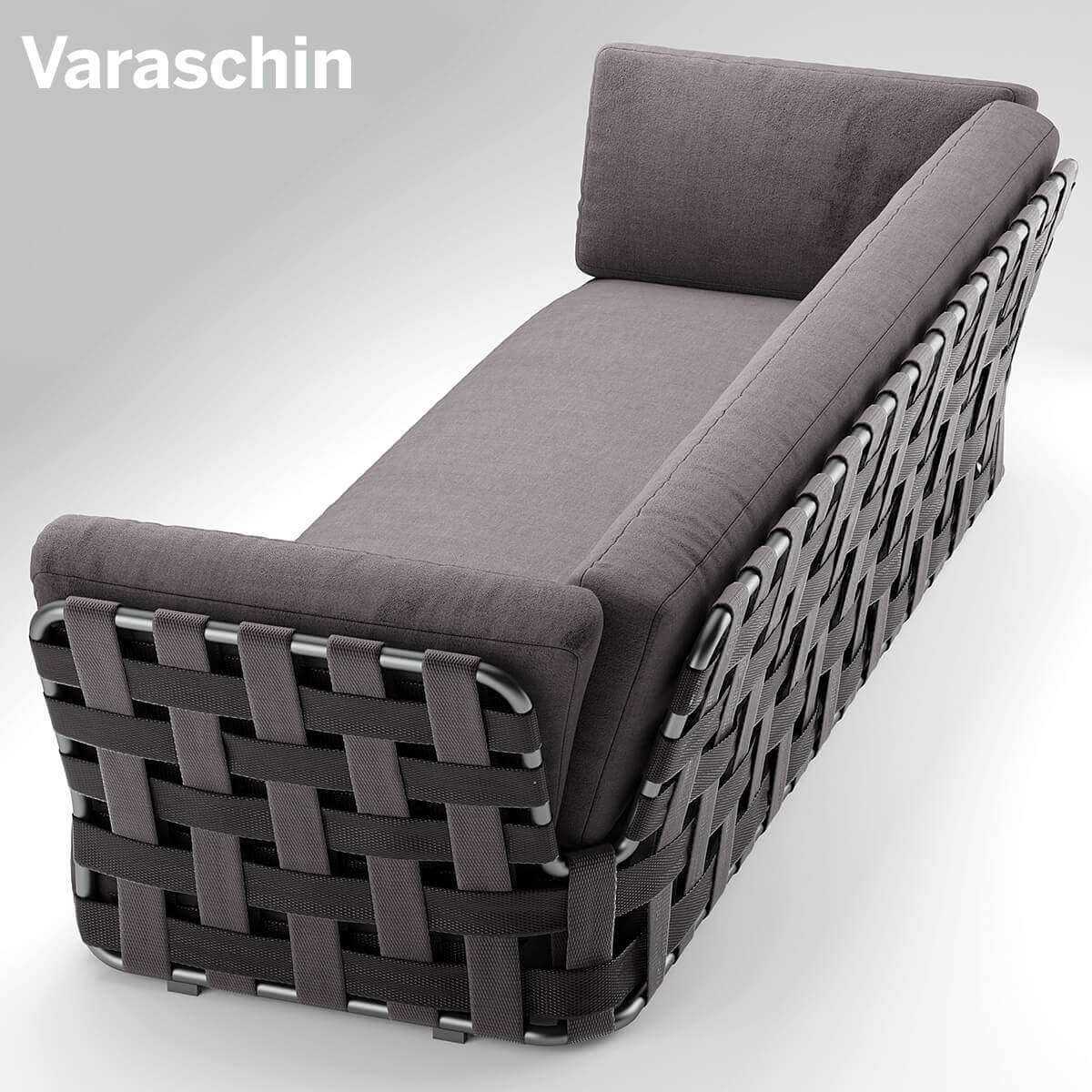 Chair Varaschin Victor Sofa 3D Model Outdoor Furniture 2