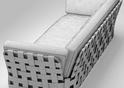Chair Varaschin Victor Sofa 3D Model Outdoor Furniture 3