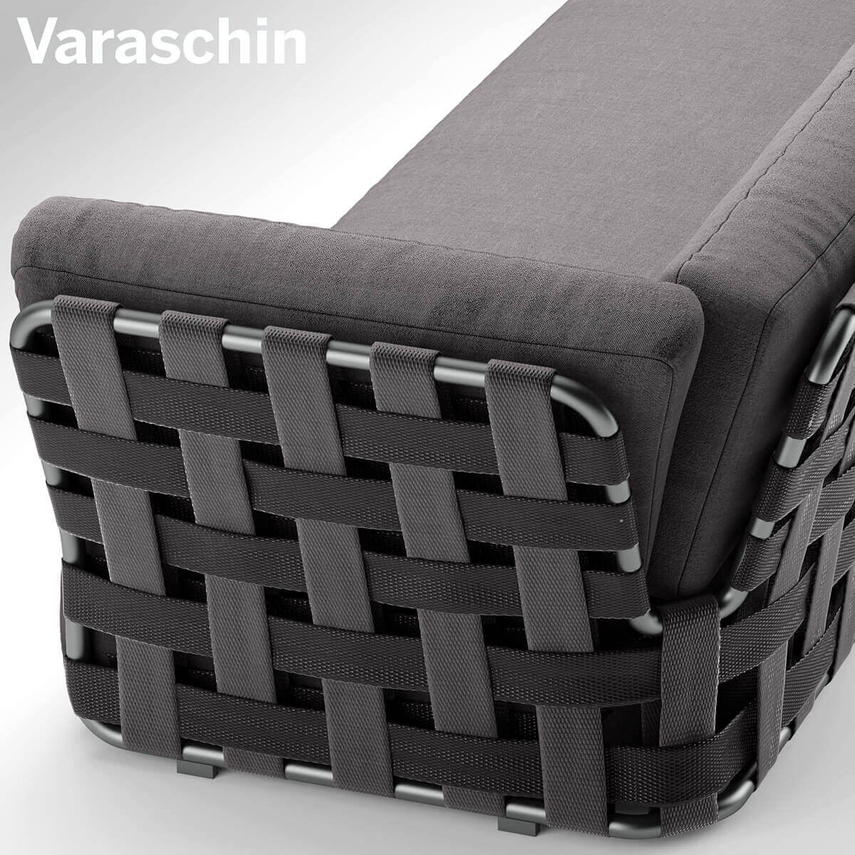 Chair Varaschin Victor Sofa 3D Model Outdoor Furniture 4