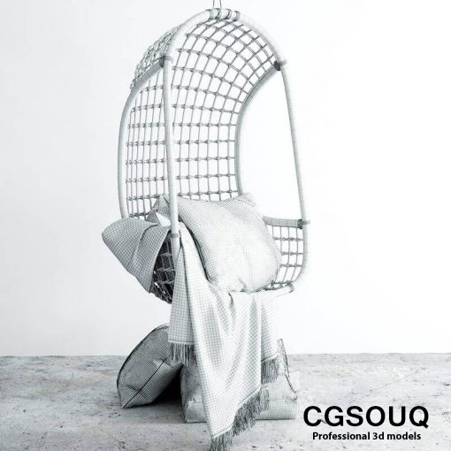 Chair hanging 3d model (4)