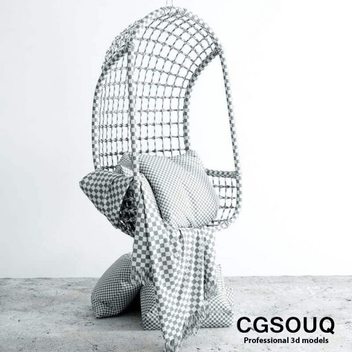 Chair hanging 3d model (5)