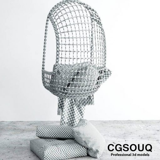 Chair hanging 3d model (6)