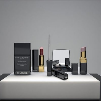 Chanel Cosmetics Display 3D model