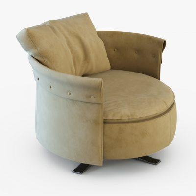 Charme Longhi Armchair 3D Model