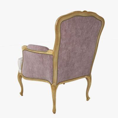 Chevigny Louis XV Bergere Chair 3D Model (1)