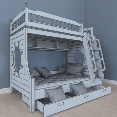 Children Bedroom Set 3D Model