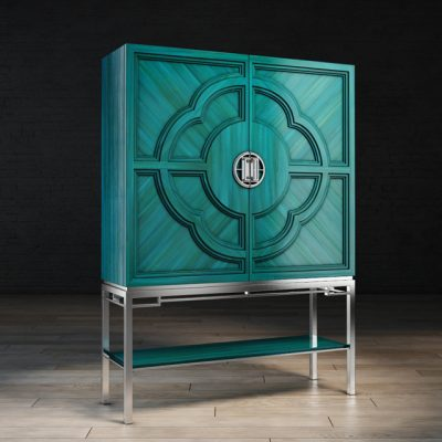 Chin Hua Lotus Bar Cabinet 3D Model