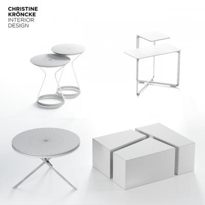 Christine Kröncke Table Set-04 3D Model