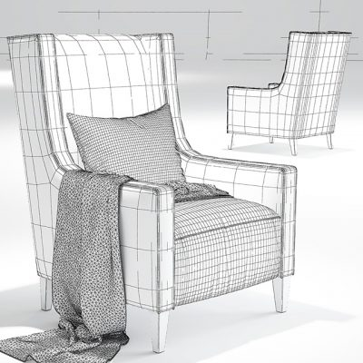 Christo Armchair 3D Model