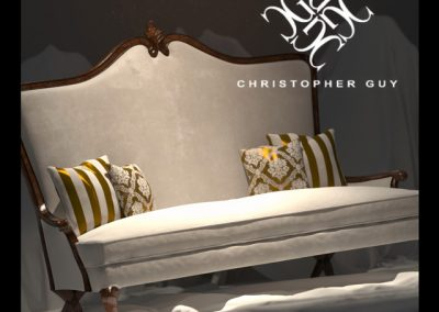 Christopher Guy 3 Seat Sofa 3D Model 2