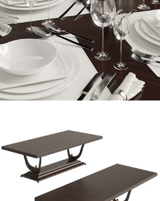 Christopher Guy – Fontaine 76-0103 – Table & Chair 3D Model