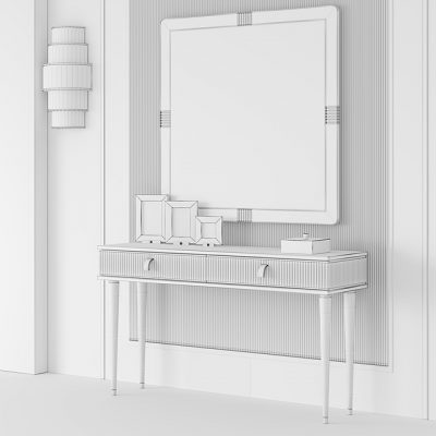 Cipriani Homood Cocoon Console 3D Model