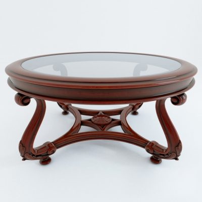 Classic Coffee Table Set-02 3D Model