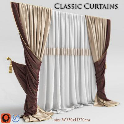 Classic Curtain 2 3D model