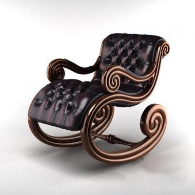 Classic Rocking Chair 3D Model