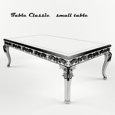 Classic Small Table 3D Model 2