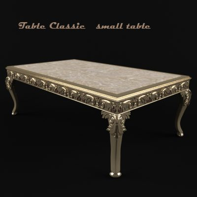 Classic Small Table 3D Model