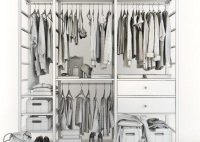 Cloth Ladies Wardrobe 3D Model 13