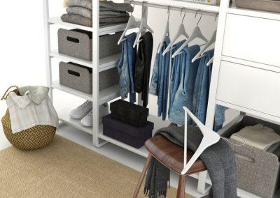 Cloth Ladies Wardrobe 3D Model 2
